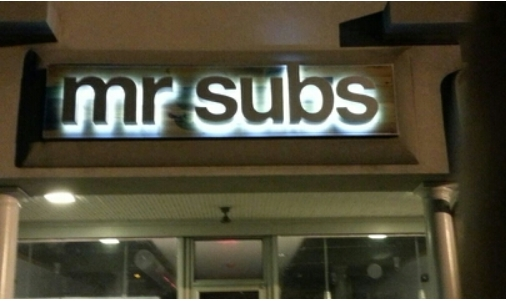 Backlit Channel Letters for Mr. Subs